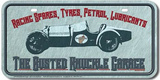 Busted Knuckle Garage Car License Plate Tin Sign