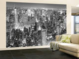 New York City View from the Empire State Building Huge Wall Mural Art Print Poster Reproduction murale g&#233;ante