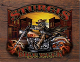 Sturgis Bike Week Wild Bill South Dakota Motorcycle Tin Sign