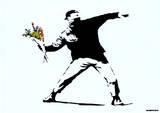Throwing Flowers Art Print Poster Plakaty