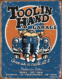 Toolin Hand Garage Placa de lata