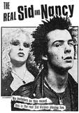 The Real Sid & Nancy (Faces, B&W) Music Poster Print Plakater