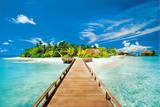 Summer Holidays Island Beach Art Poster Print Photographie
