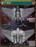 Stargate F-302 Technical Specifications TV Poster Print Prints