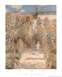 Le Jardin a Vetheuil Poster von Claude Monet