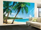 Ile Tropicale Tropical Isle Huge Wall Mural Art Print Poster Papier peint
