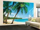 Ile Tropicale Tropical Isle Huge Wall Mural Art Print Poster Vægplakat