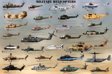 Laminated Military Helicopters Aircraft Print Poster Prints