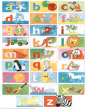 ABC's with Animals Educational Poster Plakát