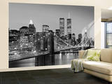 New York City Brooklyn Bridge by Henri Silberman Huge Wall Mural Art Print Poster Seinämaalaus