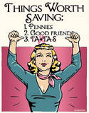 Things Worth Saving Save the Tatas Breast Cancer Tin Sign
