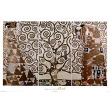 Gustav Klimt Tree of Life White Border Art Print Poster Prints