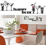 Happy Hour 13 Wall Stickers Decalques de parede