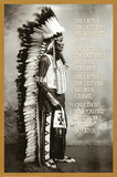 Chief White Cloud (Native American Wisdom) Art Poster Print Julisteet