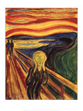 Edvard Munch The Scream Art Print Poster Posters