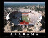 Alabama Crimson Tide Bryant-Denny Stadium NCAA Sports Poster
