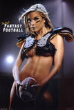 Fantasy Football Hot Girl in Pads Sexy Photo Sports Poster Print Plakaty