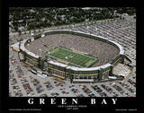 Green Bay Packers Old Lambeau Field, c.1957-2003 Sports Plakater av Mike Smith