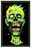 Zombie Face Blacklight Poster Print Poster