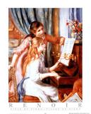 Girls at Piano Posters af Pierre-Auguste Renoir