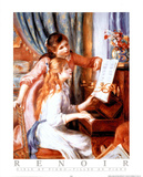 Girls at Piano Posters by Pierre-Auguste Renoir