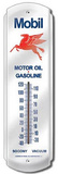Mobil Gas Motor Oil Gasoline Metal Indoor/Outdoor Weather Thermometer Tin Sign