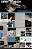 Expedition Moon Educational Science Space Chart Poster Print Prints