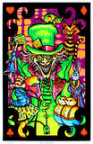 Alicia en el país de las maravillas, El sombrerero loco, collage de grupo fluorescente, arte póster lámina Póster