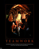 Teamwork Kegstand Motivational Parody College Art Print Poster Prints