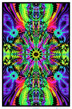 Wormhole Blacklight Poster Print Photo