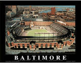 Baltimore Orioles Camden Yards First Night Game April 8, c.1992 Sports Print by Mike Smith