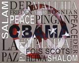 Barack Obama Peace Art Print Poster Plakat