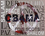 Barack Obama Peace Art Print Poster Posters