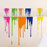 Atelier 3 Colors Wall Stickers Decalque em parede