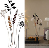 Grasses Brown Black 13 Wall Stickers Autocollant mural