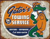Gator's Towing Service Tin Sign