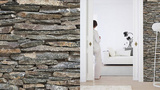 Stones Wall Stripes Wall Decal