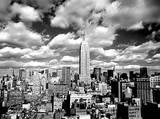 Henri Silberman Sky Over Manhattan New York City Silver Metallic Foil Art Print Poster Posters