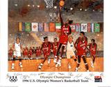 1996 US Olympic Women's Basketball Team Atlanta Posters par Bart Forbes