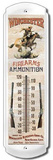 Winchester Firearms Pony Express Indoor/Outdoor Thermometer Tin Sign