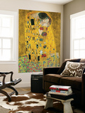 Gustav Klimt The Kiss Der Kuss Mini Mural Huge Poster Art Print Mural de papel de parede