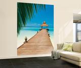 Meersteg am Strandparadies Fototapete Wandgemälde