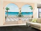 James Halloran Terrasse Provencale valtava muuri seinämaalaus Art Print Juliste Tapettijuliste