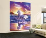 Weisses Pferd freier Geist Fototapete Wandgemälde