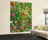 Flower Field Huge Wall Mural Art Print Poster Vægplakat i tapetform