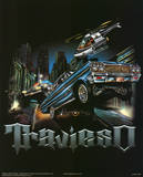 Travieso (Cars on Street) Art Poster Print Poster