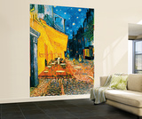 Vincent Van Gogh Terrasse de Cafe la Nuit Huge Wall Art Print Poster Wallpaper Mural