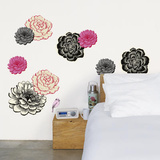 Virginia Crofts Black Flower Wall Stickers Wall Decal