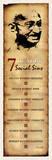Gandhi Seven Deadly Social Sins, Face Art Poster Print Plakater