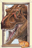 T-Rex Dinosaur Window Print Poster Print
